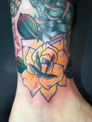 Rose on ankle