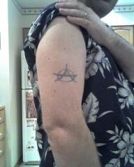 Old anarchy tattoo