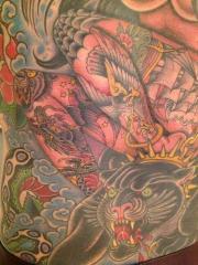 Back piece close up