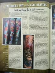 Skin and Ink Article with my venetian mask