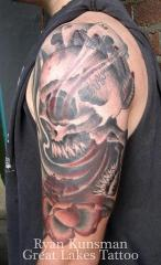 Aces and Eights Half Sleeve