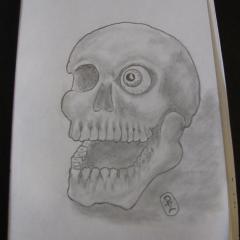 One eye skull