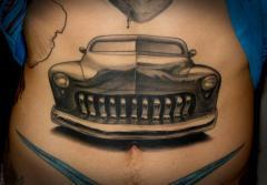 car stomach