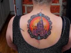 Fairy tale castle by Glen of Glory Bound Tattoo UK