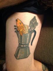 fish in espresso pot