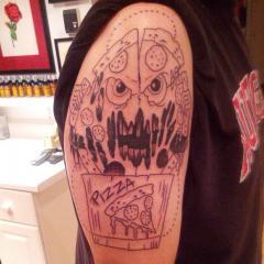 cheesey tattoo