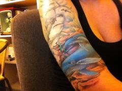 Ocean half sleeve