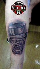skull like a boss robert tattoo art
