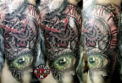 skull clock eye custom design fresh robert tattoo art