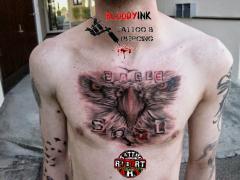 eagle soul robert tattoo art done in bloody ink swiss