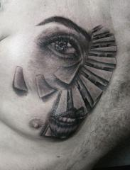 surreal robert tattoo art