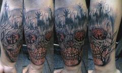 dying light skull robert tattoo art