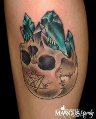 crystal upside down skull geometry thingy