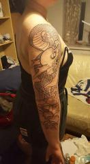 Start of sleeve