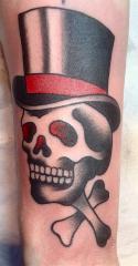 top hat skull