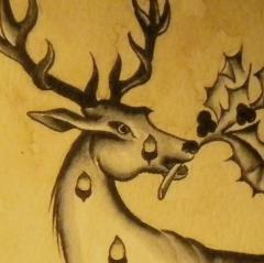 cropped deer