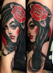 girl head cover-up, Brian Kelly, Rose of No Man's Land Berlin