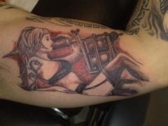pin up with tattoo machine