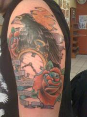 bird and clock