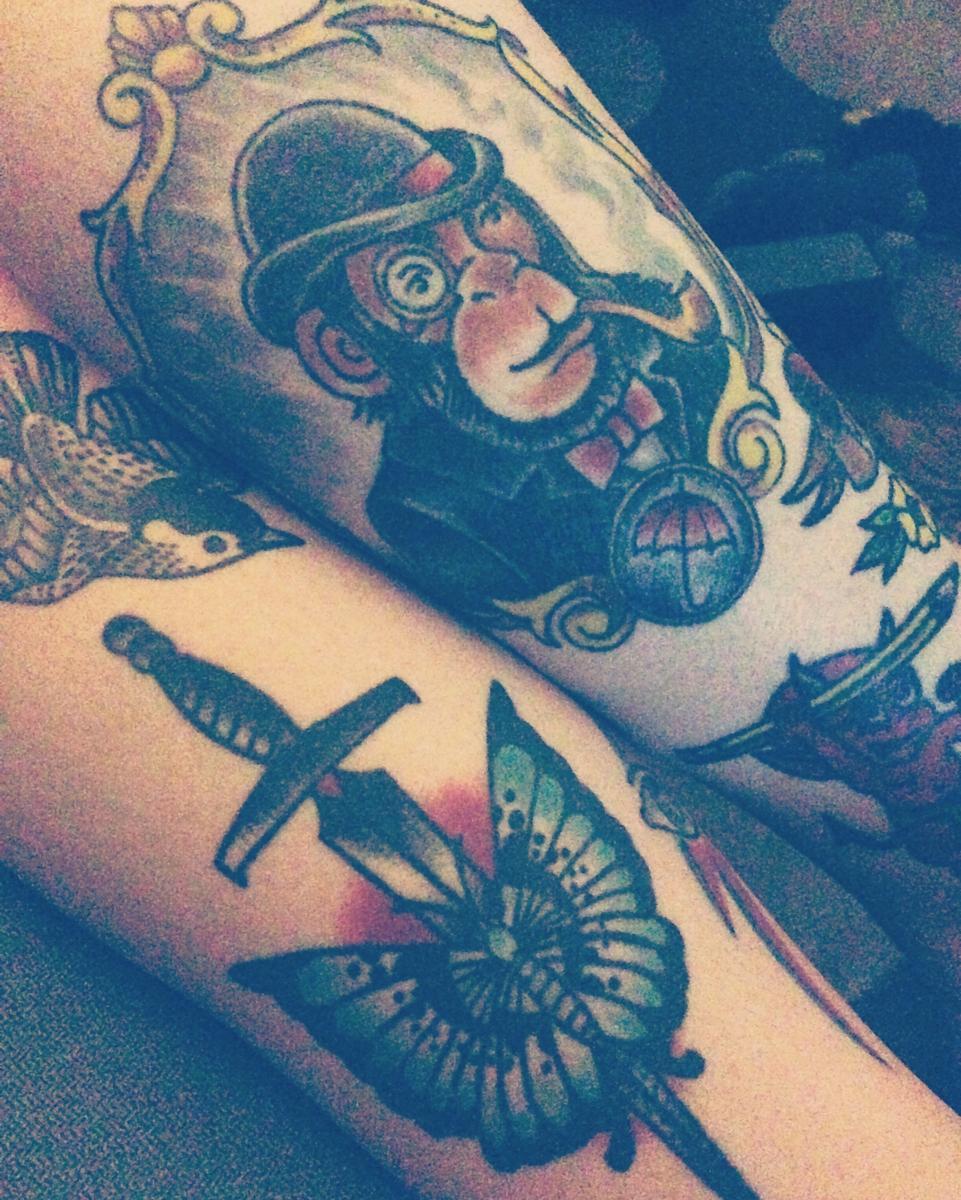 A few of my leg tattoos
