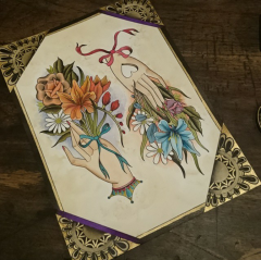 Flowery hands