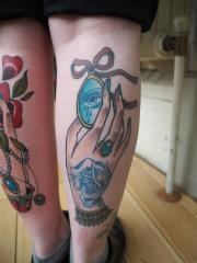 Healed hand and locket
