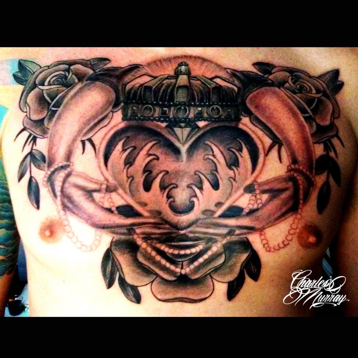 Chest Tattoo Claddagh