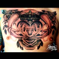 Chest Tattoo Claddagh