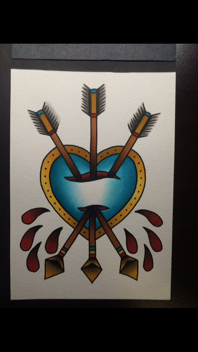 Traditional Heart and Arrows