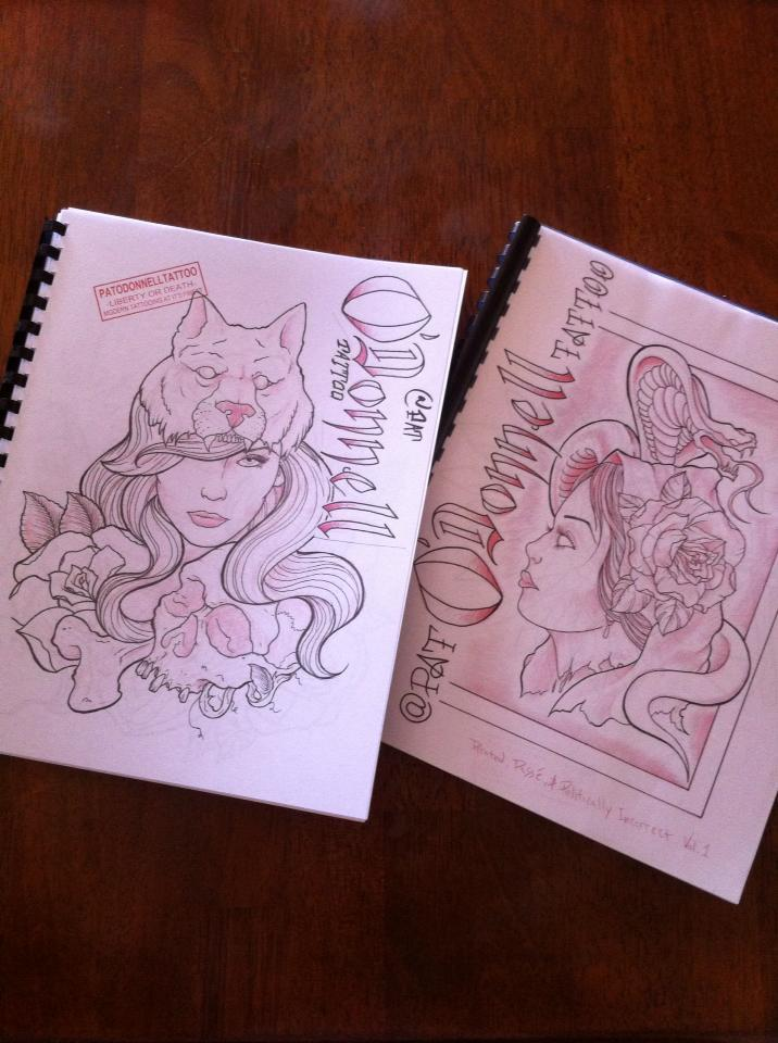 pat odonnell sketchbooks fo\' sale - Tattoo Designs, Books and Flash ...