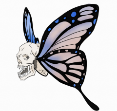 Butterfly Skull Tattoo