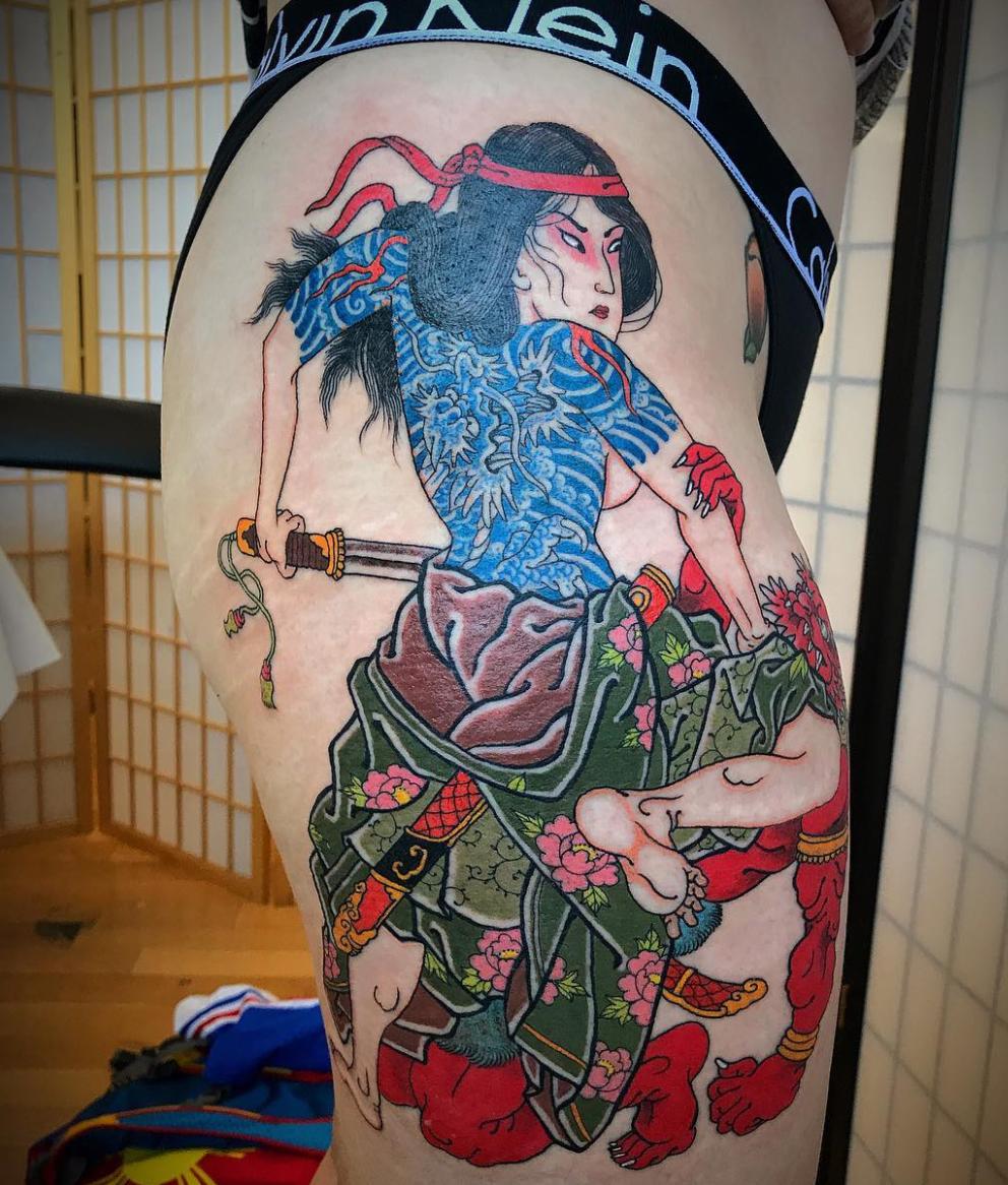 A spin off of the Tammeijiro print by Kuniyoshi