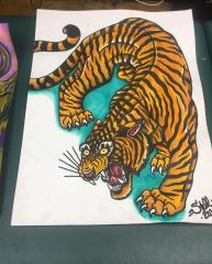 Tiger water color
